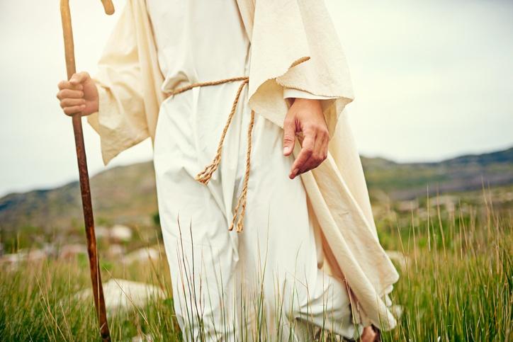 Jesus walking