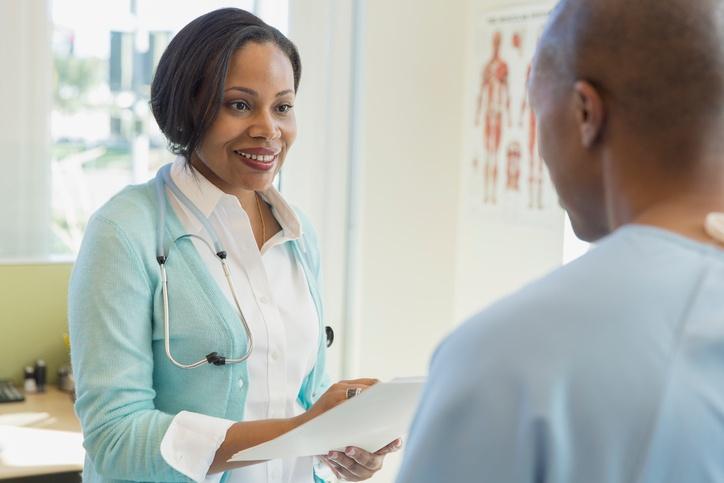 doctor conducting spiritual assessment