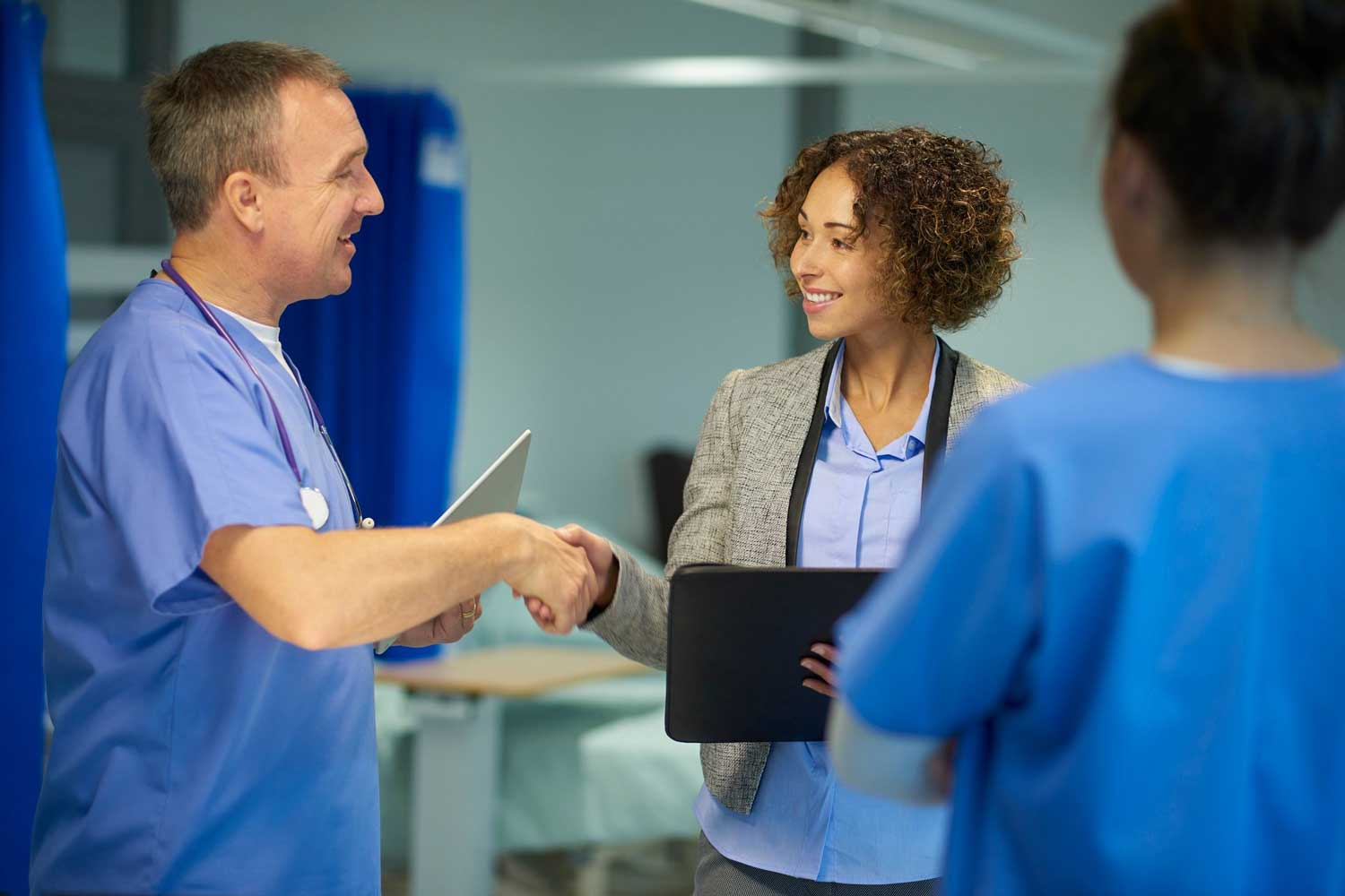nurse leader and clinical staff